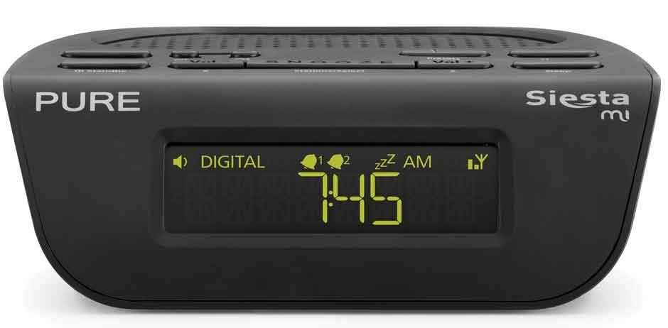 Pure SIESTA MI SERIES II (VL-61775) BLACK DAB FM RDS DIGITAL RADIO