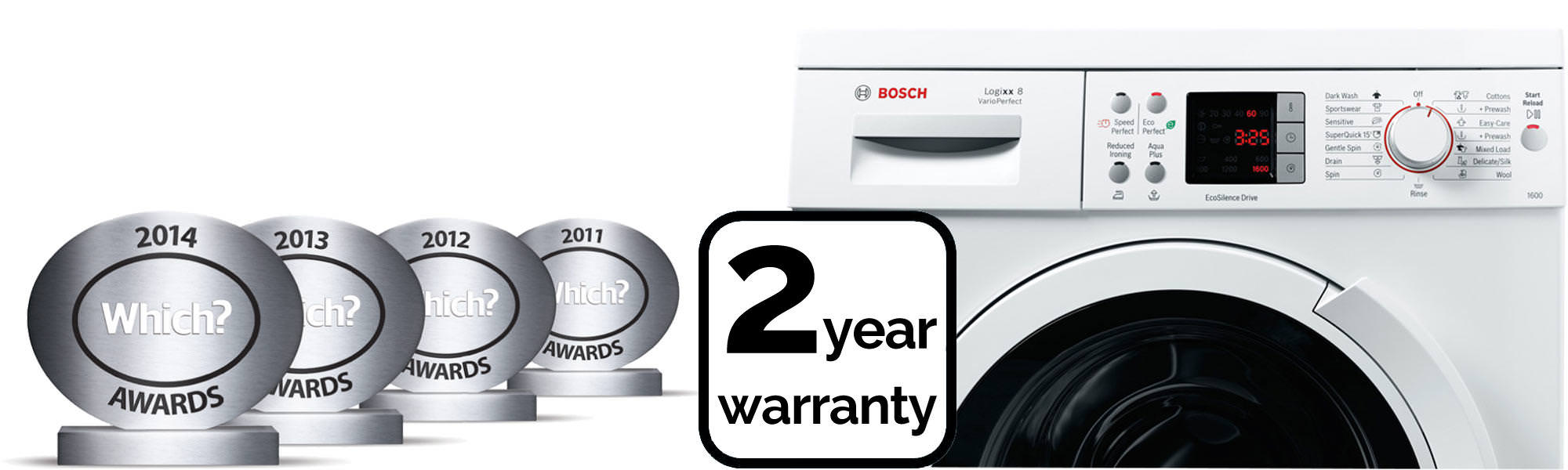 Bosch WAS32461GB 8Kg 1600 Spin Washing Machine