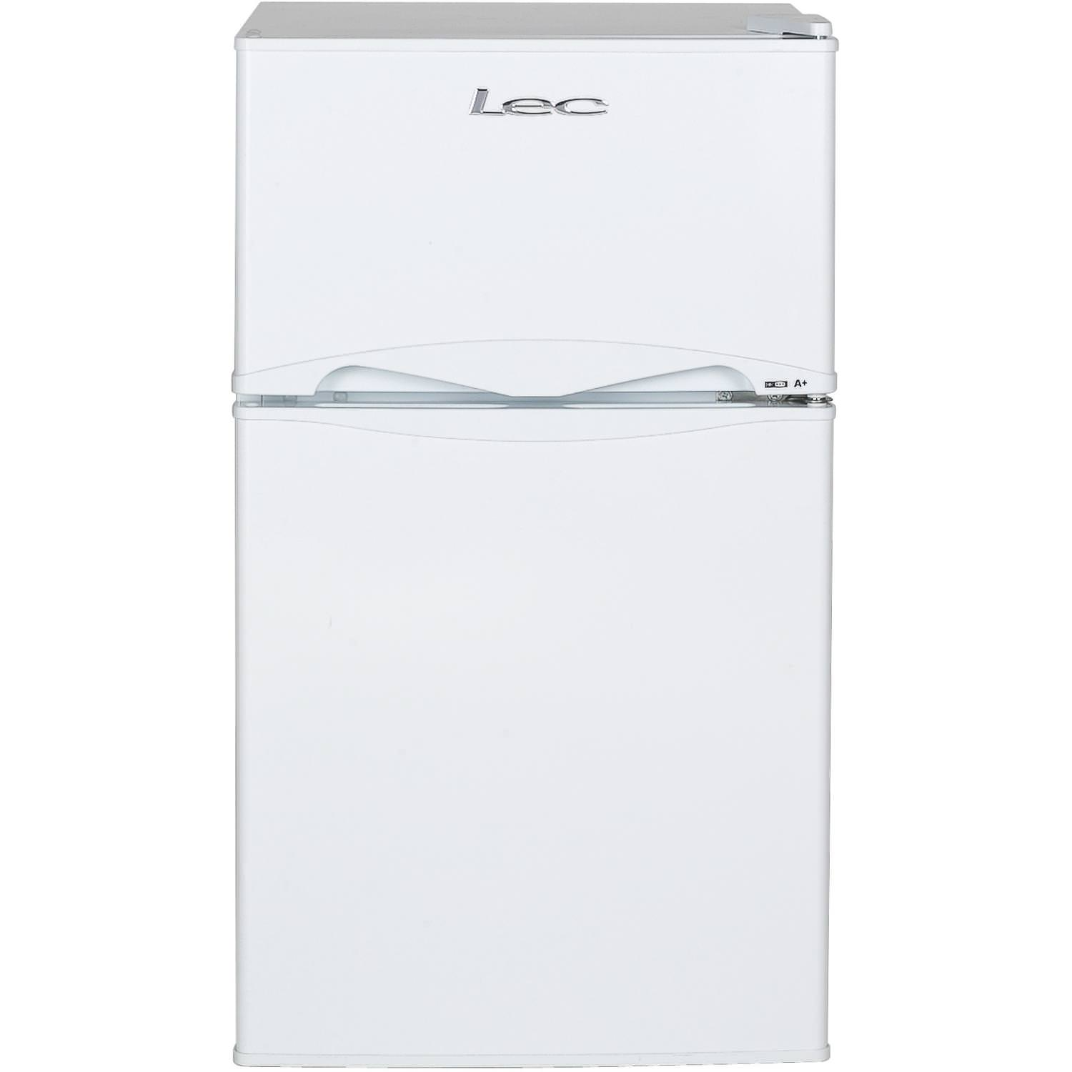 LEC T50084W 87 Litre Auto Defrost Freestanding Under Counter Fridge Freezer