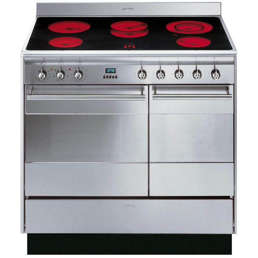 Smeg SUK92CMX9 90cm Electric Double Oven Range Cooker​