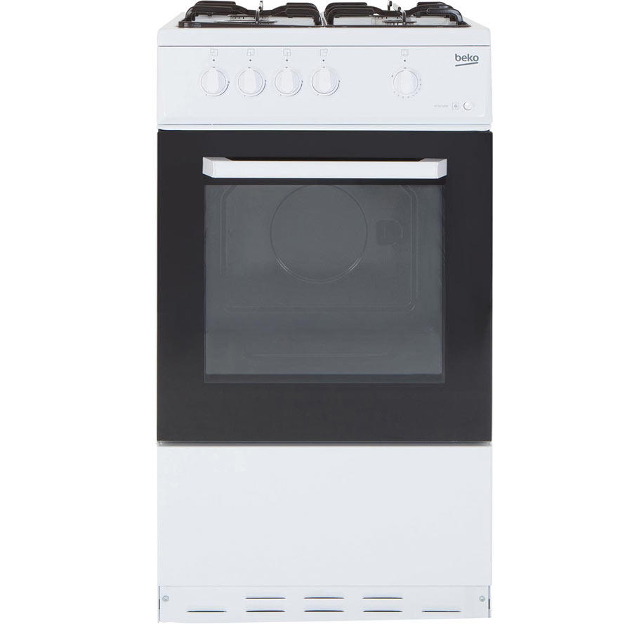 Beko BCSG50W 50cm 55ltr Single oven gas cooker