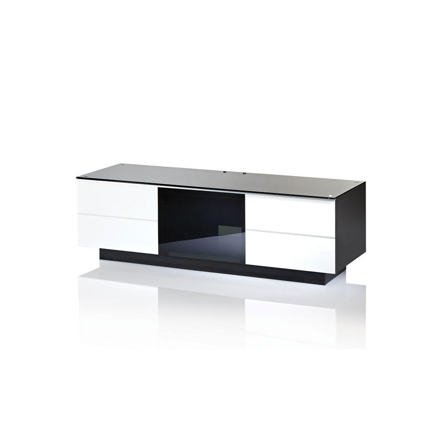 UKCF GG135 ULTIMATE 1350MM WHITE TV STAND