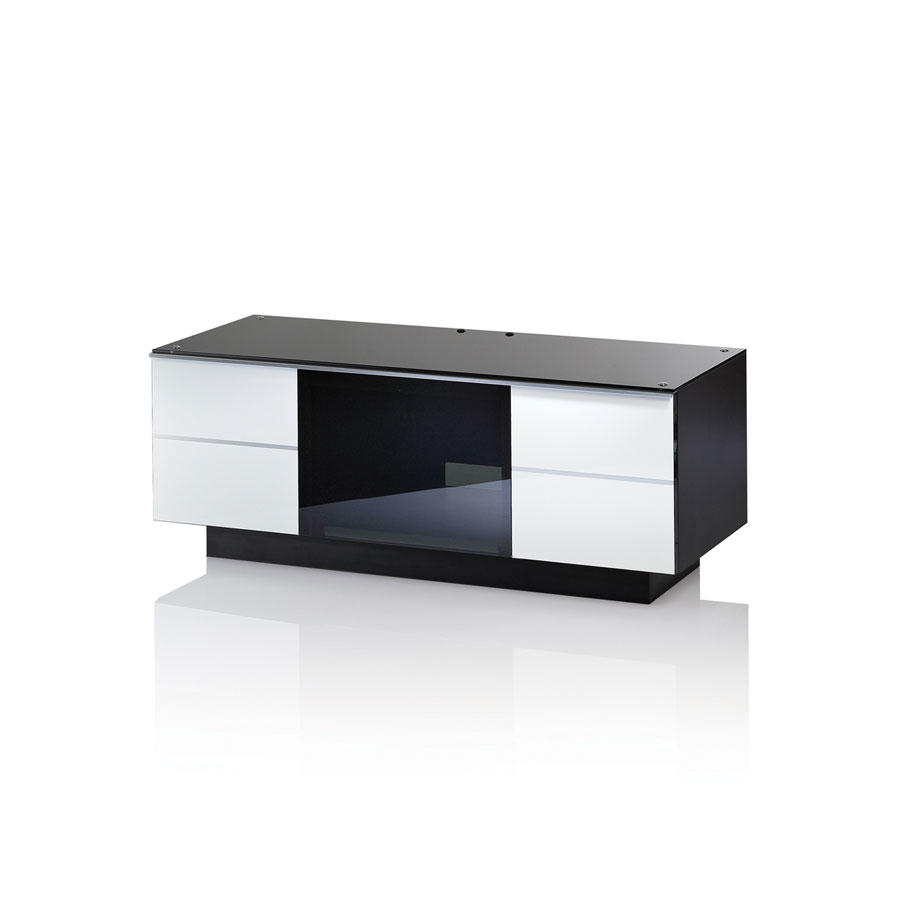 UKCF GG110 ULTIMATE 1100MM WHITE TV STAND