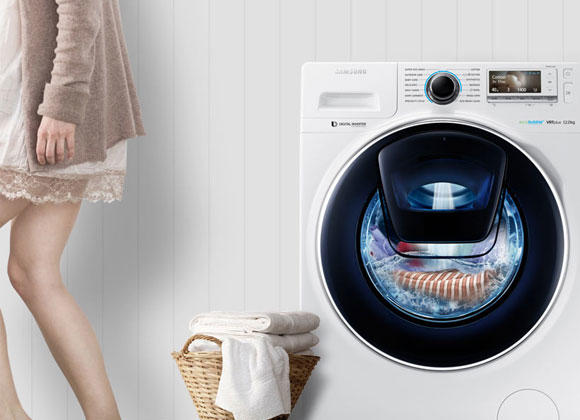 Samsung WW90K7615OW 9Kg 1600 Spin AddWash Washing Machine