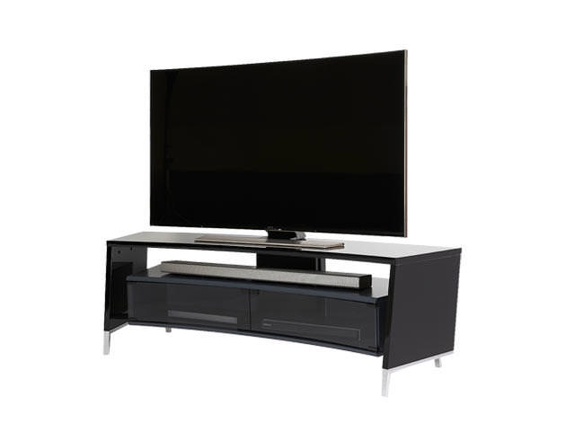 Off The Wall CRV1500 Curved TV Cabinet Stand Black