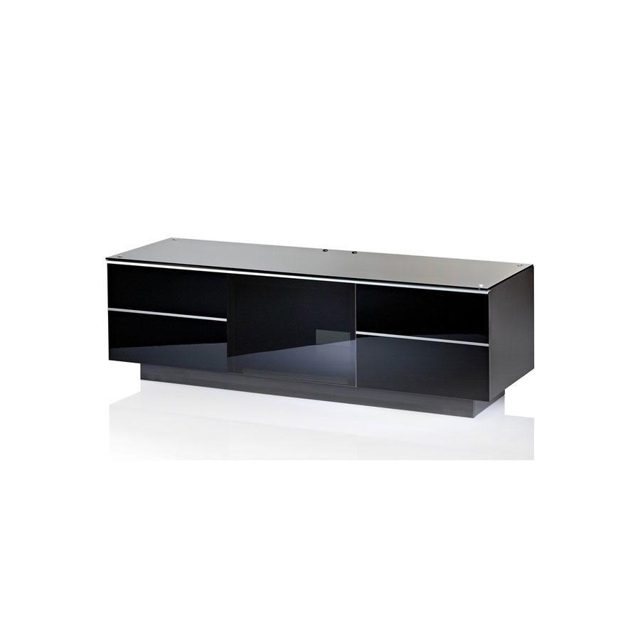 UKCF GG135 ULTIMATE 1350MM BLACK TV STAND