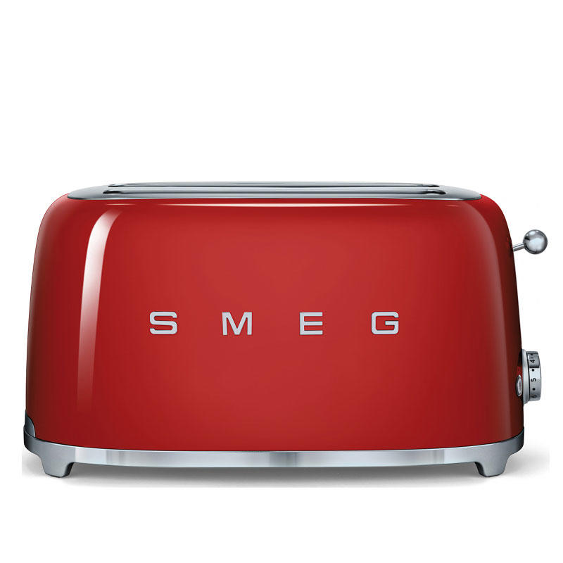 Smeg TSF02RDUK Retro 4 Slice Toaster - Red