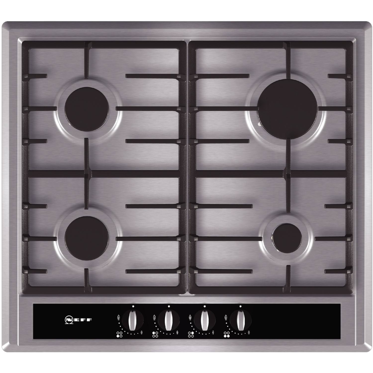 Neff ​T23S36N0GB 60cm 4 Zone Stainless Steel Gas Hob
