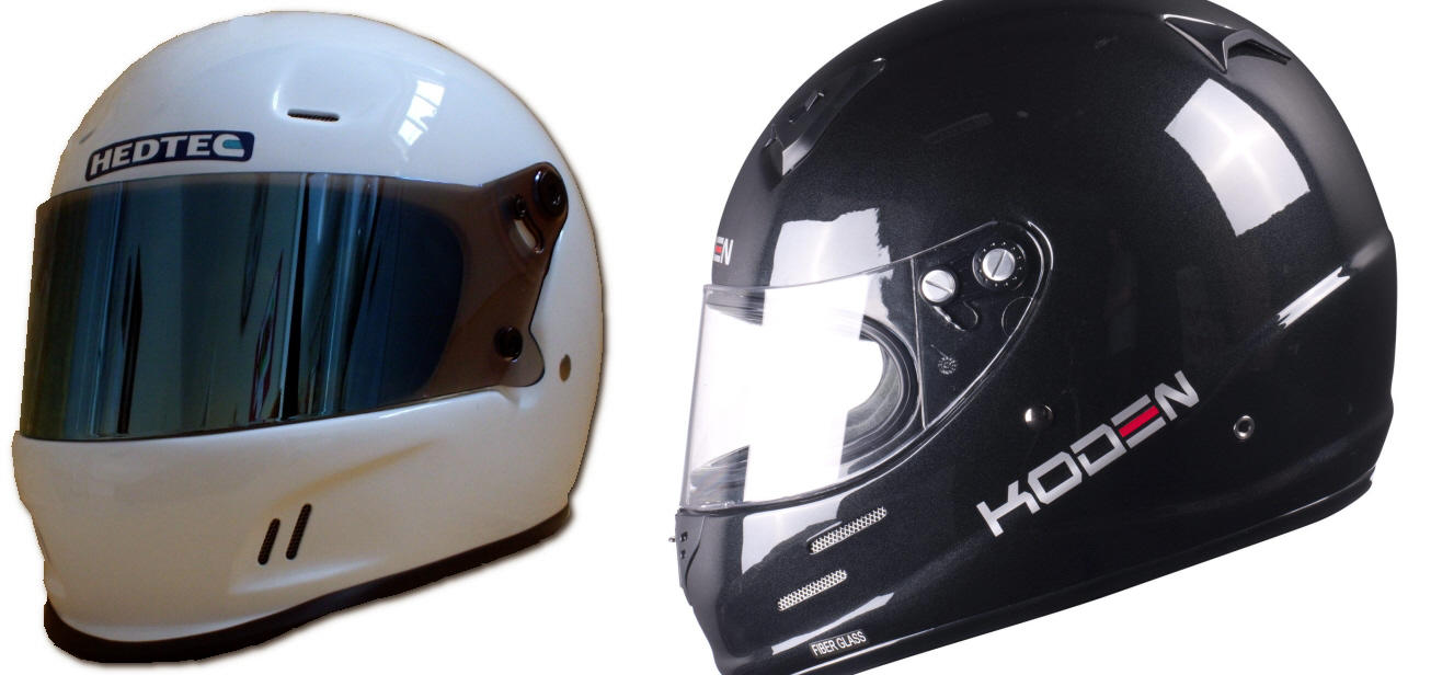Helmets for kart, track and race