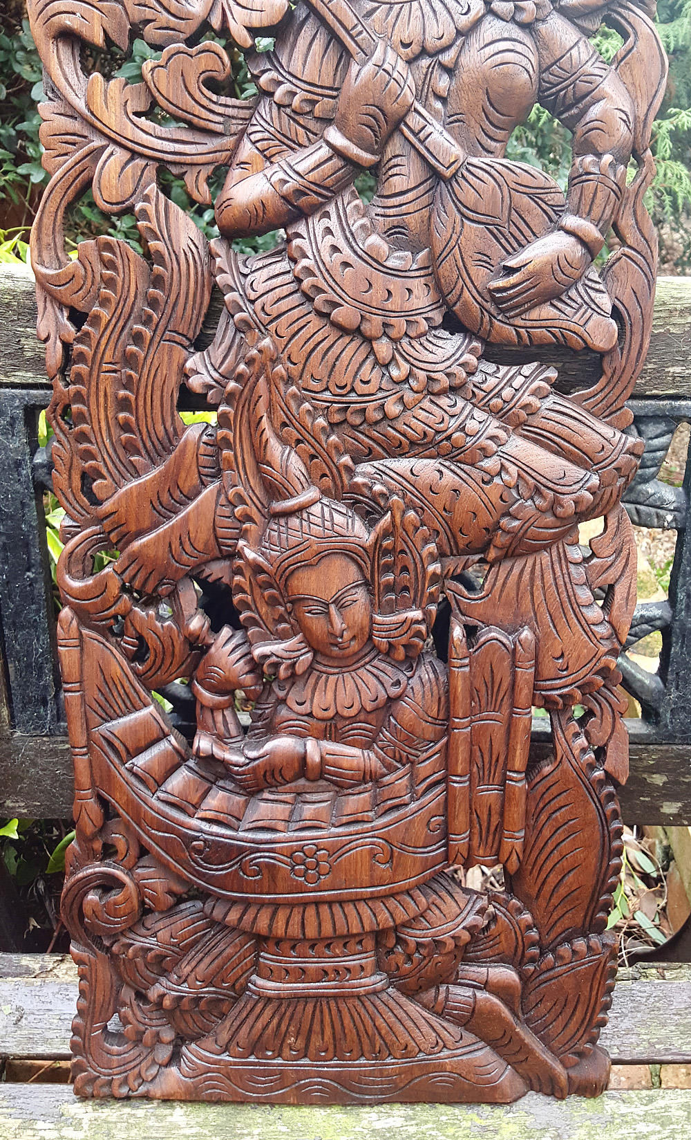 Master carved solid teak wood ft wall panel