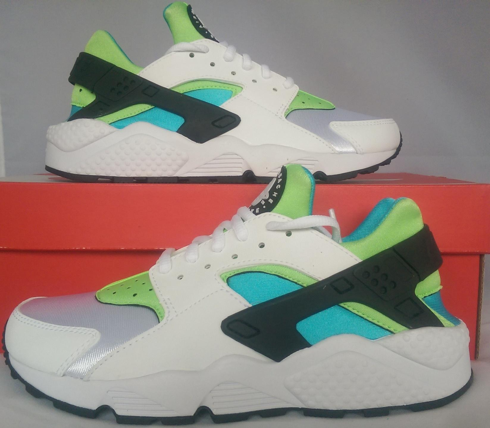 Nike Huarache White Green Blue
