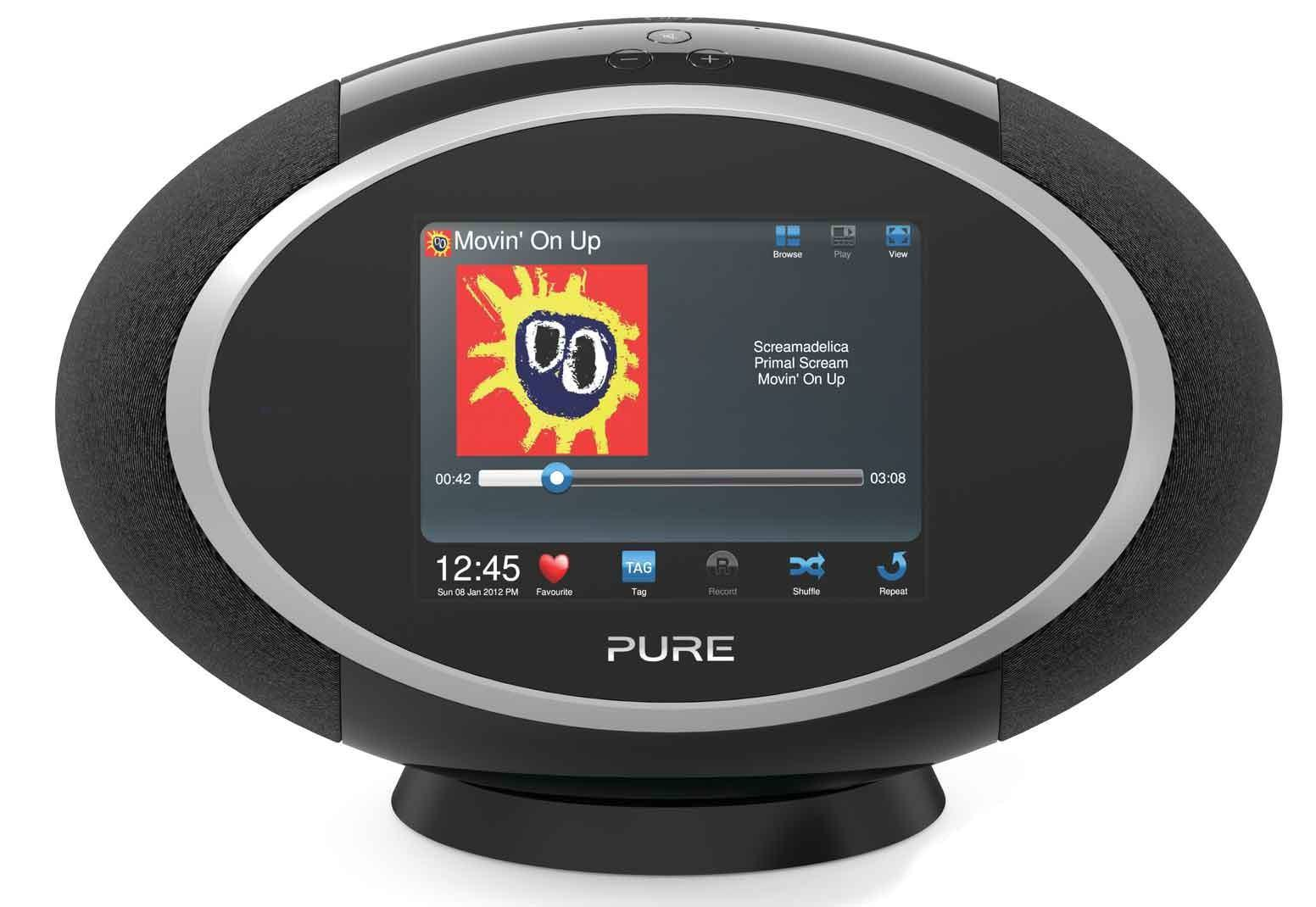 Pure SENSIA 200D BLACK PORTABLE DAB FM RDS WIFI RADIO