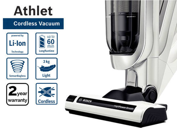 Bosch BCH6PETGB 25.2v Athlet Pet Cordless Upright Vacuum Cleaner