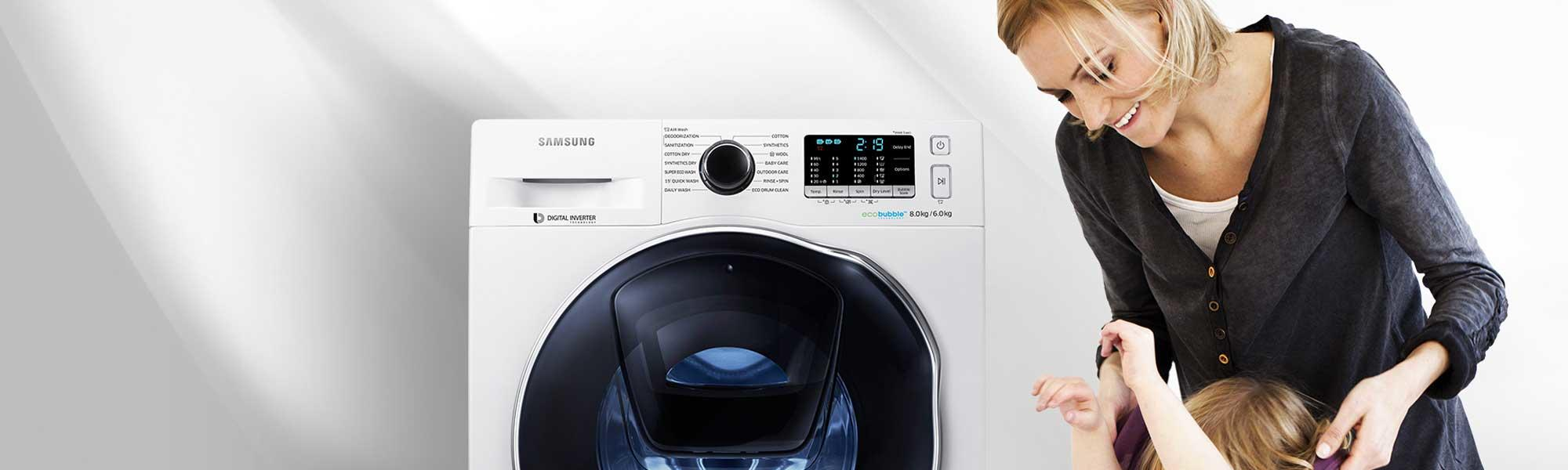 Samsung WF70F5E2W4X 7Kg 1400 Spin Washing Machine