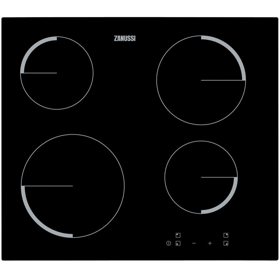 Zanussi ZEV6240FBV Black Glass Ceramic Electric Hob
