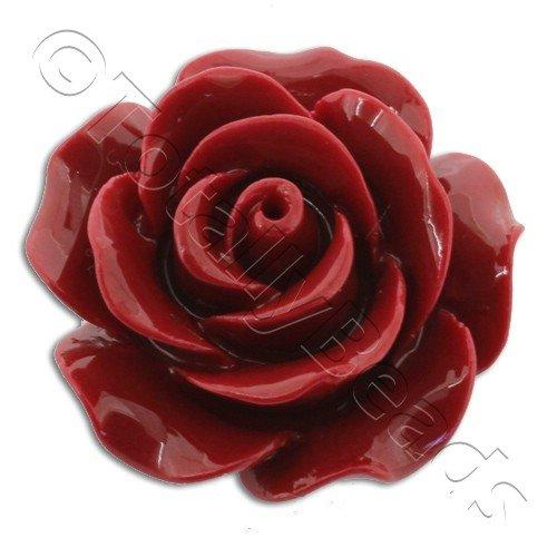 Acrylic Rose 25mm 1 Row - Red