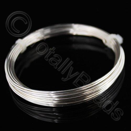 Beading Wire - Silver Plated Copper 0.6mm - 10 Metres