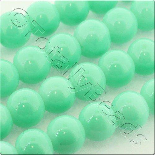 Glass Bead Round 8mm - Lime Green