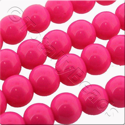 Glass Bead Round 4mm - Neon Pink