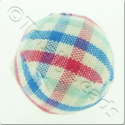 Chequered Cloth Bead 20mm - C11