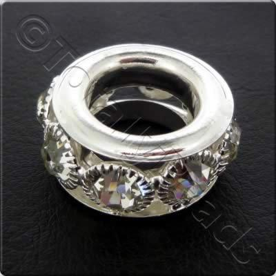 Crystal Diamante Spacer - Ring - 27x11mm
