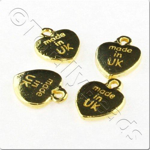 Gold Metal Charm - Made in UK