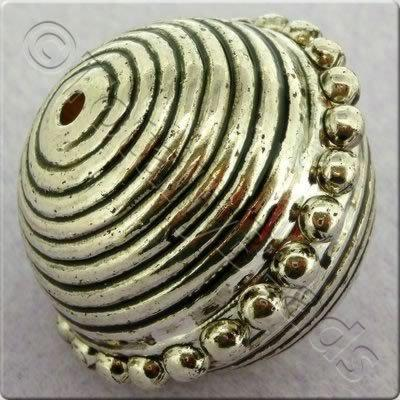 Acrylic Antique Silver Bead - Round 25x30mm