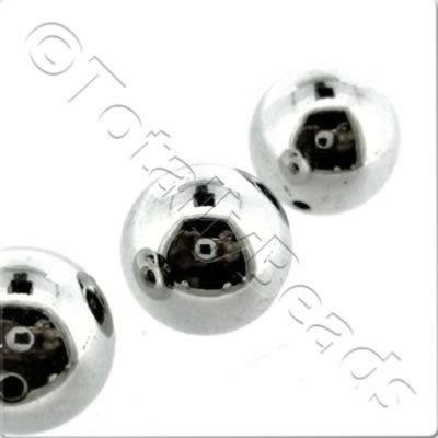 Acrylic Antique Silver Bead - 15mm Round