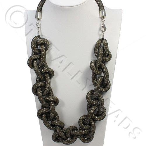 Loop Mesh Necklace - Black Beauty