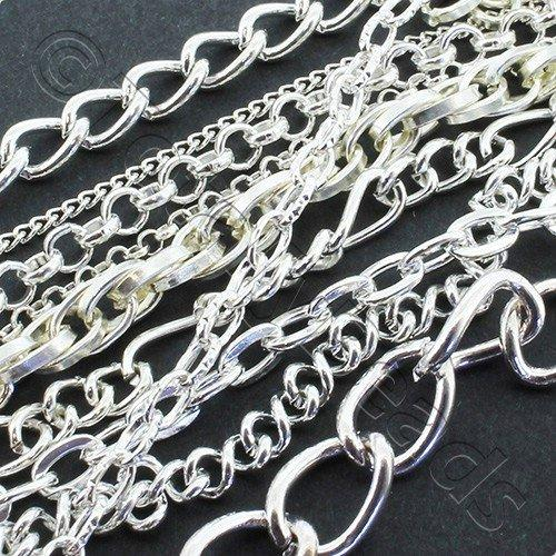 Chain Silver Plated - Mixed 50g Bag