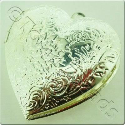 Heart Locket - Silver Plated