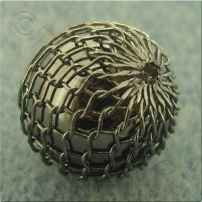 Wire Mesh Beads - Round 12mm - Black