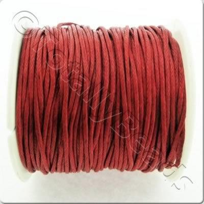 Wax Cotton Cord 1mm - Red