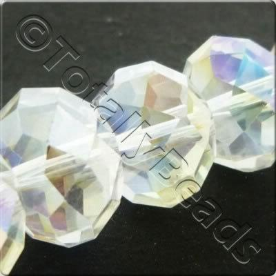 Crystal Rondelle 10x14mm - Clear AB