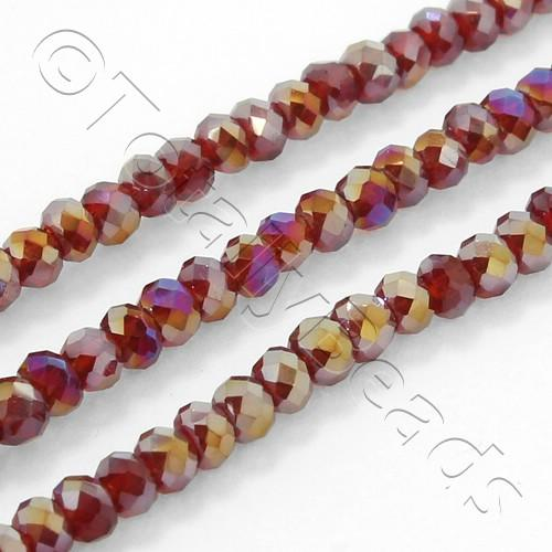 Crystal Rondelle 2.5x3.5mm - Ruby Red AB 150pcs