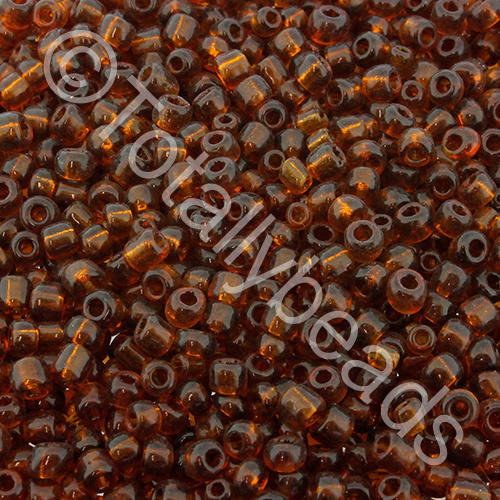 Seed Beads Transparent  Brown - Size 8