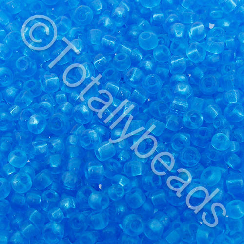 Seed Beads Transparent  Turquoise - Size 8