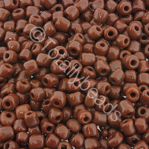Seed Beads Opaque  Brown - Size 6