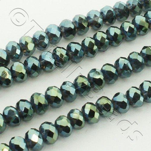 Crystal Rondelle 3x4mm - Midnight Green