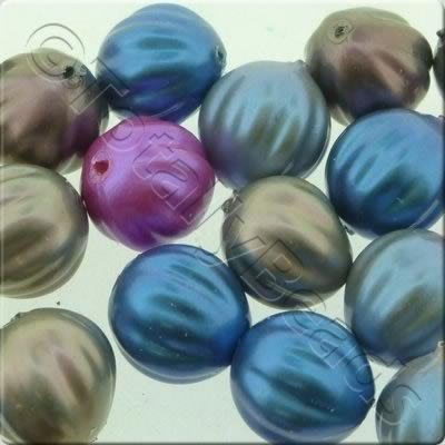 Acrylic Imitation Pearl - 10mm Pumpkin - Mix 2