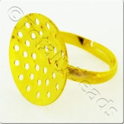 Beading Ring - Gold Plated
