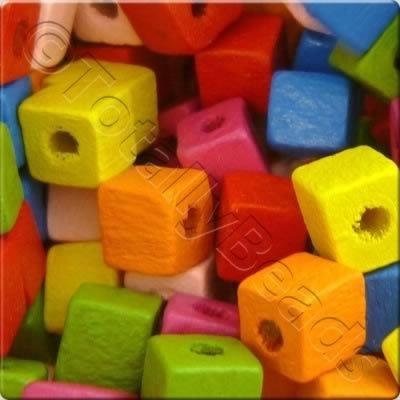 Childrens Wooden Bead - Cubes