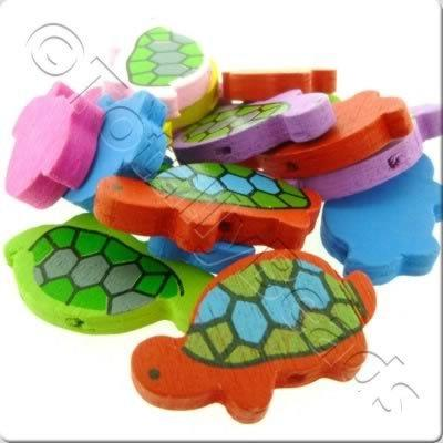 Childrens Wooden Bead - Tortoise