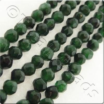 Emerald Dyed Stone 3mm Facet Round