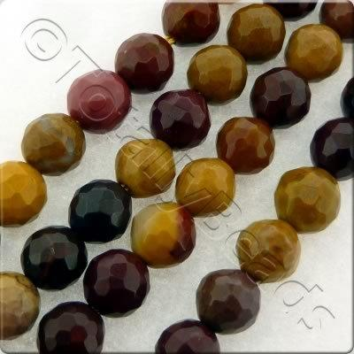 Mookaite Facet Round Beads - 8mm