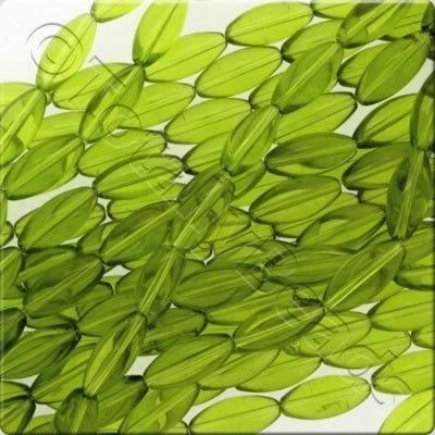 Glass Rice 22mm - Green