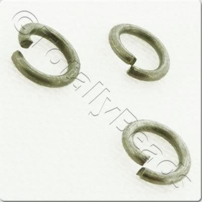 Jump Rings 6x1mm - Dull Silver Plated