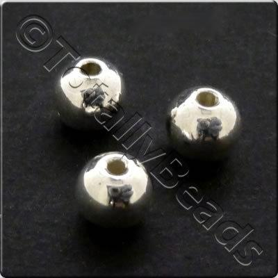 Metalised Acrylic Bead Round 5mm - Silver 250pcs