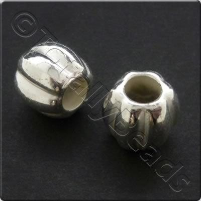Metalised Acrylic Bead Pumpkin Round 12x10mm - Silver 40pcs