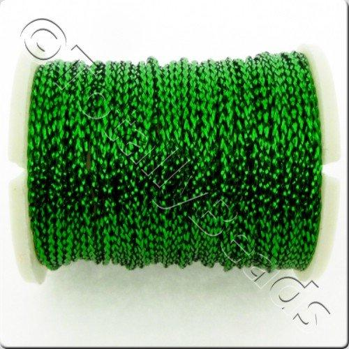 Metallic Thread Green - 0.7mm - 10m Spool